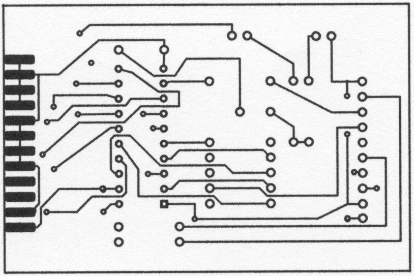 Распечатанные из PCAD и отсканированные схемы программатора Altera ByteBlaster.